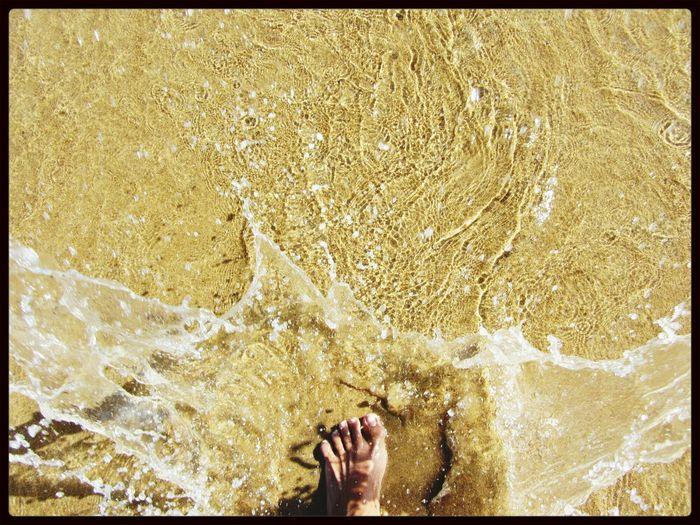 my foot splash on the water... Water Splash! Myfoot Splash Photography Beachphotography