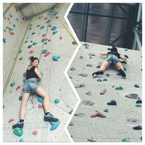 RockClimbing Camp5 Oneutama Firsttimer Afraidofheight LifeChanging Nevergiveup Ericapoh Think of the consequences if were to give up now!