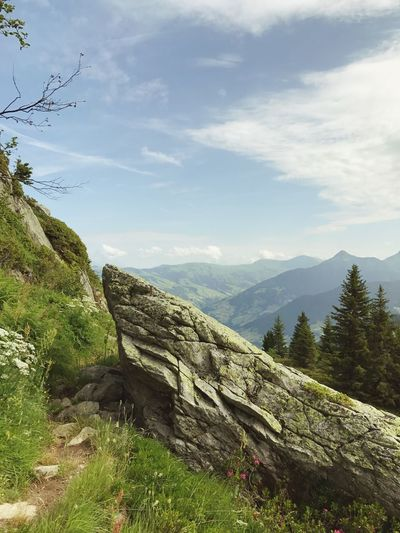 Path Hiking Trail Obstacle Obstacles Landscape Alps Rock - Object Sky Nature Mountain No People Day Beauty In Nature Outdoors