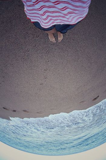 Sea Shore From My Point Of View Fisheye Summer Sand Beach Footprints In The Sand happy moments