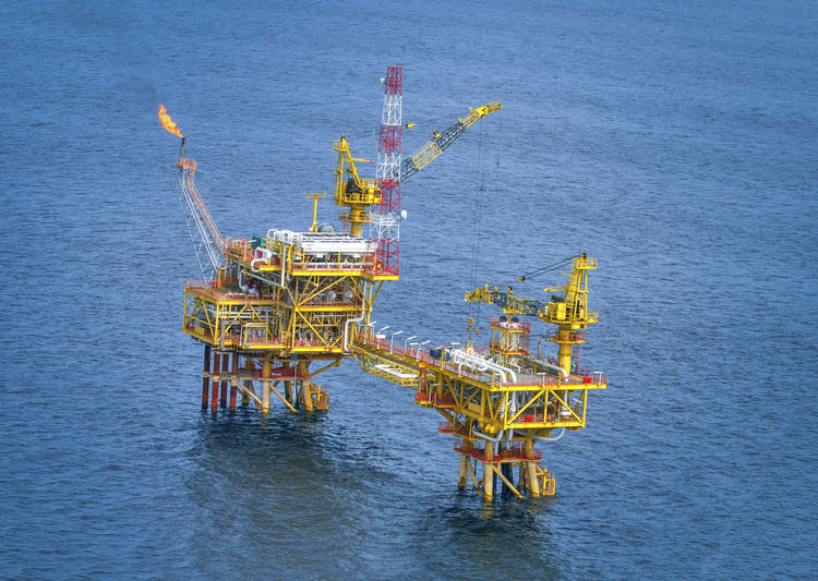 View Of Oil And Gas Rig In The Ocean