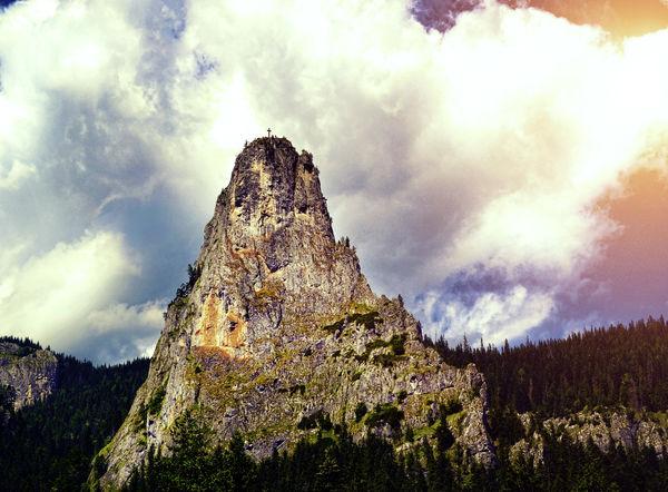 Cross on top of the mountain #EyeEm #faith #nature_collection #EyeEmNaturelover #nature #summer Landscape Mountain Nature Outdoors Scenics