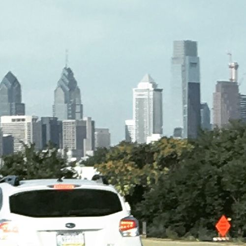 Philadelphia from I195 Check This Out Taking Photos City Life Thankgodforairconditioning Hate Congestion Colour Of Life Iphonephotography Color Photography
