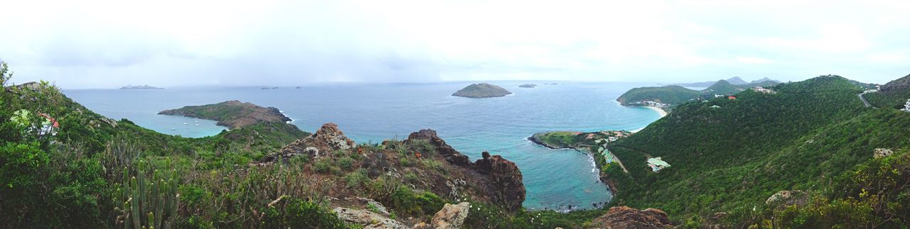 Island Nature Caribbean St Barths Green Island Sea Horizon Panoramic View Landscape Landscapes With WhiteWall