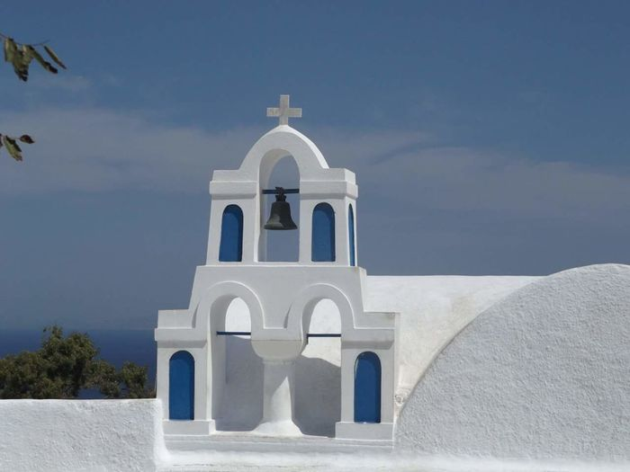 Santorini Greecelovers Architecture Scenics Travel Destinations Summer Horizon Outdoors Tranquil Scene Clear Sky Blueandwhite White Color Arch Spirituality Architecture Building Exterior Be. Ready. No People Sky Blue Tranquility Simplicity Built Structure The Graphic City