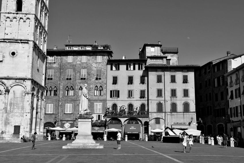 Lucca Italy Architecture Building Exterior Built Structure City Day Large Group Of People Outdoors People Real People Sky Transportation Travel Destinations