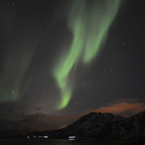 Amazingly breathtaking. Probably one of the most beautiful joys of nature I've ever seen. NorthernLights Aurora Norway Tromso Polarlight