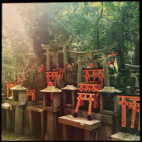 Hipstamatic Shrine Kyoto Japan