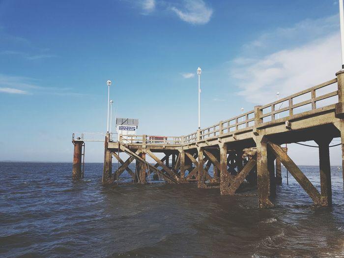 Sea And Sky Sea Jetée Sea Beach Bridge - Man Made Structure Sky Horizon Over Water