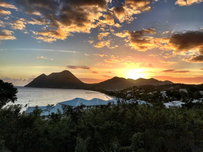 Sunset over Le Diamant Martinique Scenics Mountain Cloud - Sky Outdoors Sky Tranquility Landscape Sunset Island Carribean Adventure Horizon Over Water Nature Ocean Ocean View