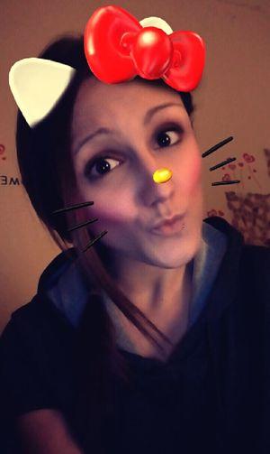 Snapchat Snaps Hasiihase Hallo Kitty Kitty Selfie ♥ Selfie✌ One Person Funny Women Snapshots Selfie ♥ Hasiihase