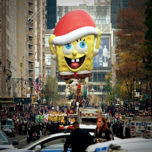 Happy Thanksgiving!! Macy's Thanksgiving Parade Enjoying Life Extremely Blessed ❤ Spongebobfan
