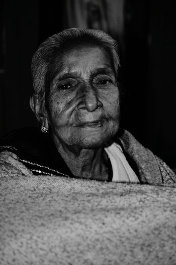 Showcase: November Old Lady Woman Women Of EyeEm Portrait Blackandwhite Life Fade Human Black & White Blackandwhite Photography Face Satisfiedheart Love Indian Indianwomen