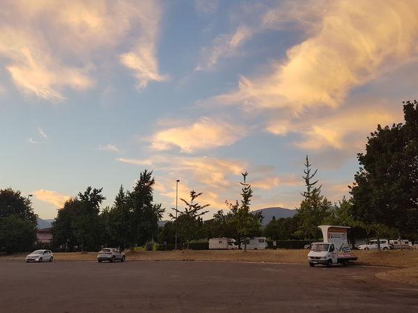 Car Tree Cloud - Sky Sunset No People Sky Outdoors Day Nature Carabana Parking Aparcamiento Cielo Arboles