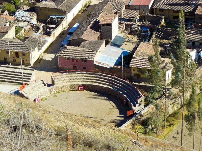Architecture Building Exterior Built Structure COLONIAL WORLD Day EyeEm Best Shots EyeEmNewHere High Angle View No People Ollantaytambo - Peru Outdoors Peru Plaza De Toros Travel Tree