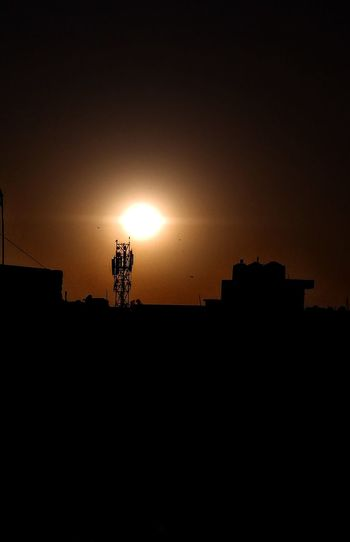 Sun & Communication Nature&technology Birds Sun Mobiletower Evening Black Brightstar Homestar Star Sunset