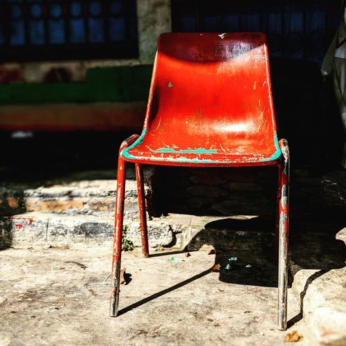 Red Chair Exotic Travel Travel Destinations Village Village Life Market Fruit Stall Fruit Market Red Red Color Chairs Chair No People Shadow Outdoors Day Close-up