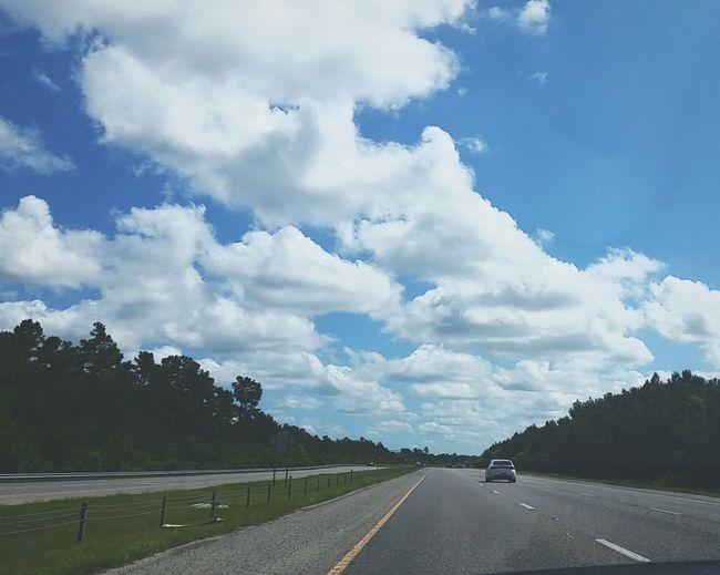 Perfect drive to work Sweetsummertime Drivetowork Clouds Beautifulsky Hwy31 Perfect