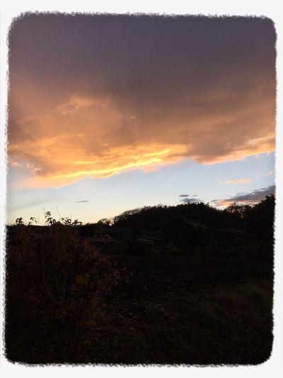 sunset sky cloud