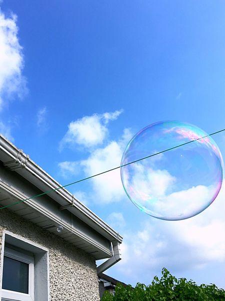 Garden Bubbles Bubble Big Bubbles Big Bubble House Lines Sky Sky And Clouds Blue Sky Showcase June Pivotal Ideas