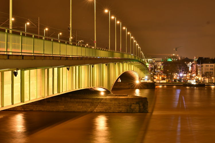 Brücke Cologne Cologne , Köln,  Deutschland Deutzer Brücke Köln Rhein Riverside Bridge Bridge - Man Made Structure Built Structure Bulb Bulbphotography Bulbs Germany Illuminated Iso100 Langzeitaufnahme Langzeitbelichtung Night River