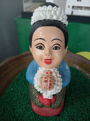 Green Color Portrait Adult Only Women Grass Water One Person People Thai Culture Day Doll One Woman Only Close-up Indoors  Craft Sawasdee Hand Made Helllo Hi Representative One Person Only Represent Smile Thailand Thai