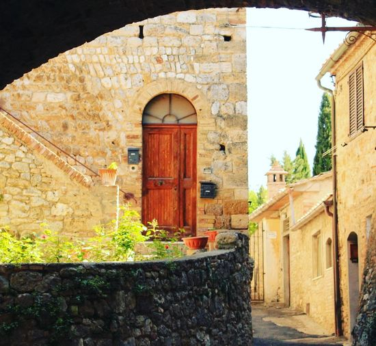 Colors Gimignano Shade Architecture Building House Italy Nature No People Old Stone Wall Wall