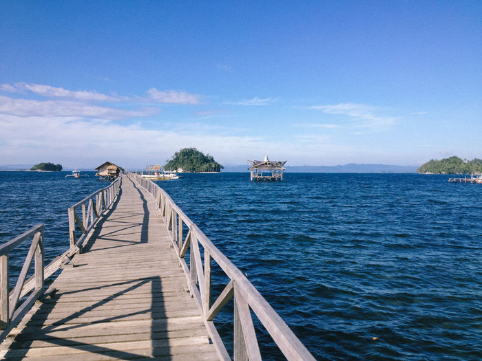 Surigao Del Sur Architecture Beauty In Nature Britaniaislands Cloud - Sky Nature Outdoors Scenics - Nature Sea Sky Tranquil Scene Tranquility Water Wood - Material