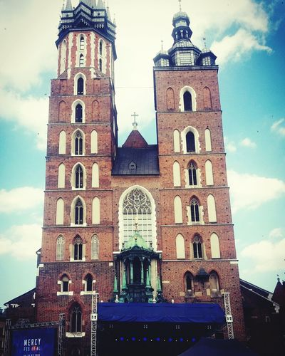 Kraków Architecture Building Exterior Sky Built Structure Place Of Worship No People Day Clock City First Eyeem Photo Photograph Photo♡ Females Photographer Elégance Looking At Camera Beautiful People Beauty Cracow Poland CracowCity Cracow2016 Cracowshore