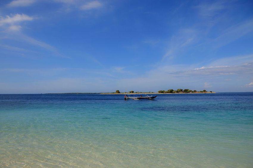 Sea Beauty In Nature Nature Sky Horizon Over Water Blue Cloud - Sky Beautylombok Lombokisland Gili Kondo