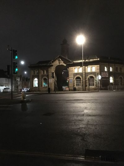 Night Illuminated Street Light Building Exterior Architecture Street Built Structure Car City No People Outdoors Road Sky Old Building  Working Away Bristol, England Strange Place Take Me Home ❤ MK Illuminations