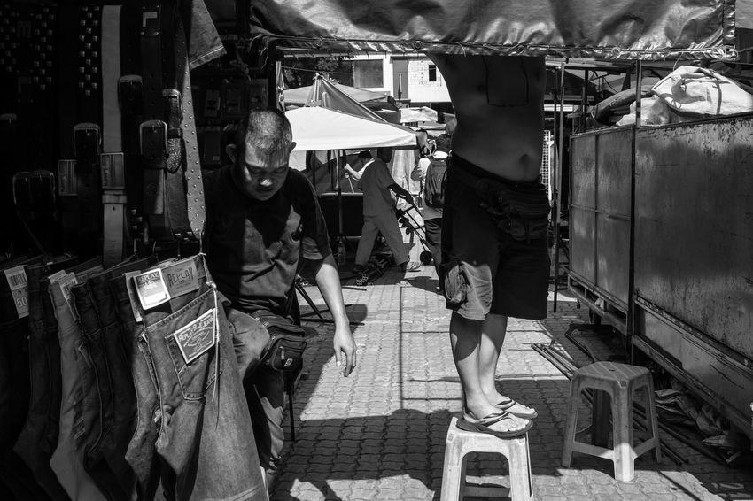 Kuala Lumpur September 24, 2016 Black And White Chess Chow Kit Daily Life FUJIFILM X100S Kuala Lumpur Mahfuz Jaffar Outdoors People Raja Bot Street Life Street Photography The Street Photographer - 2016 EyeEm Awards Wet Market