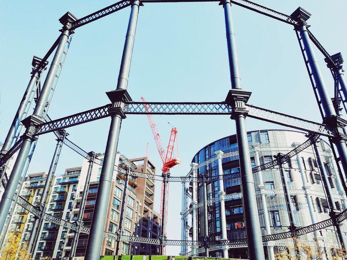 London Uk United Kingdom Outdoors Architecture Gasholders Gasholder Park City Built Structure