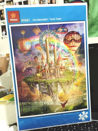 農曆年全家拼 Puzzle  2000pc 天空之城 20150207