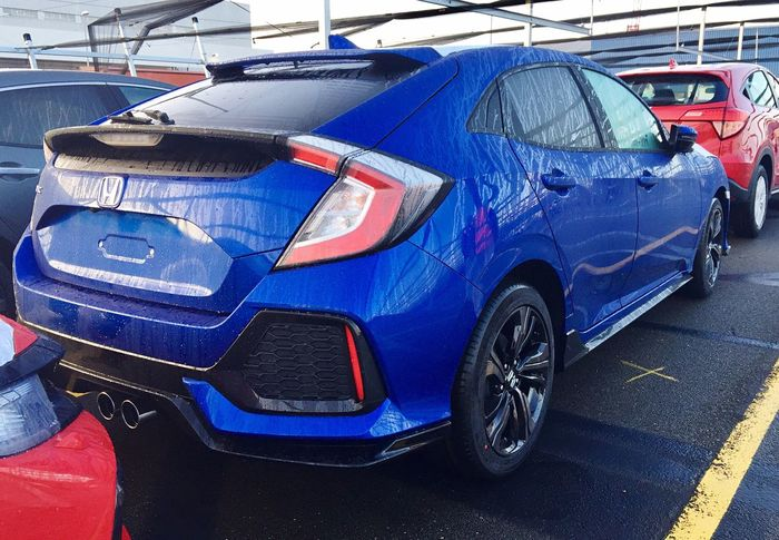 Blue Transportation Mode Of Transport Car Land Vehicle Outdoors Stationary No People Day New Civic 2017 Silent Fun To Drive