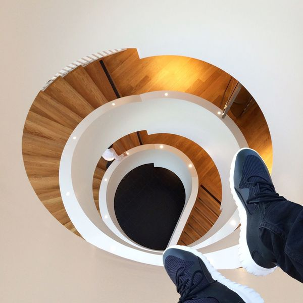 I see you Spiral Staircase Minimalism Stairs Lookingdown