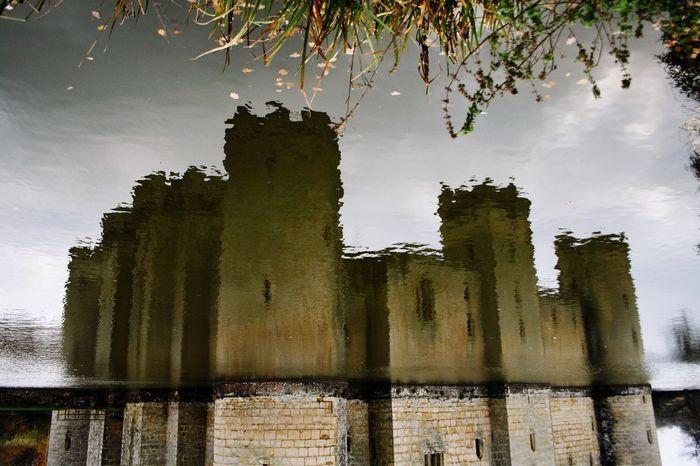 Reflection Castle Moat Bodiam Castle