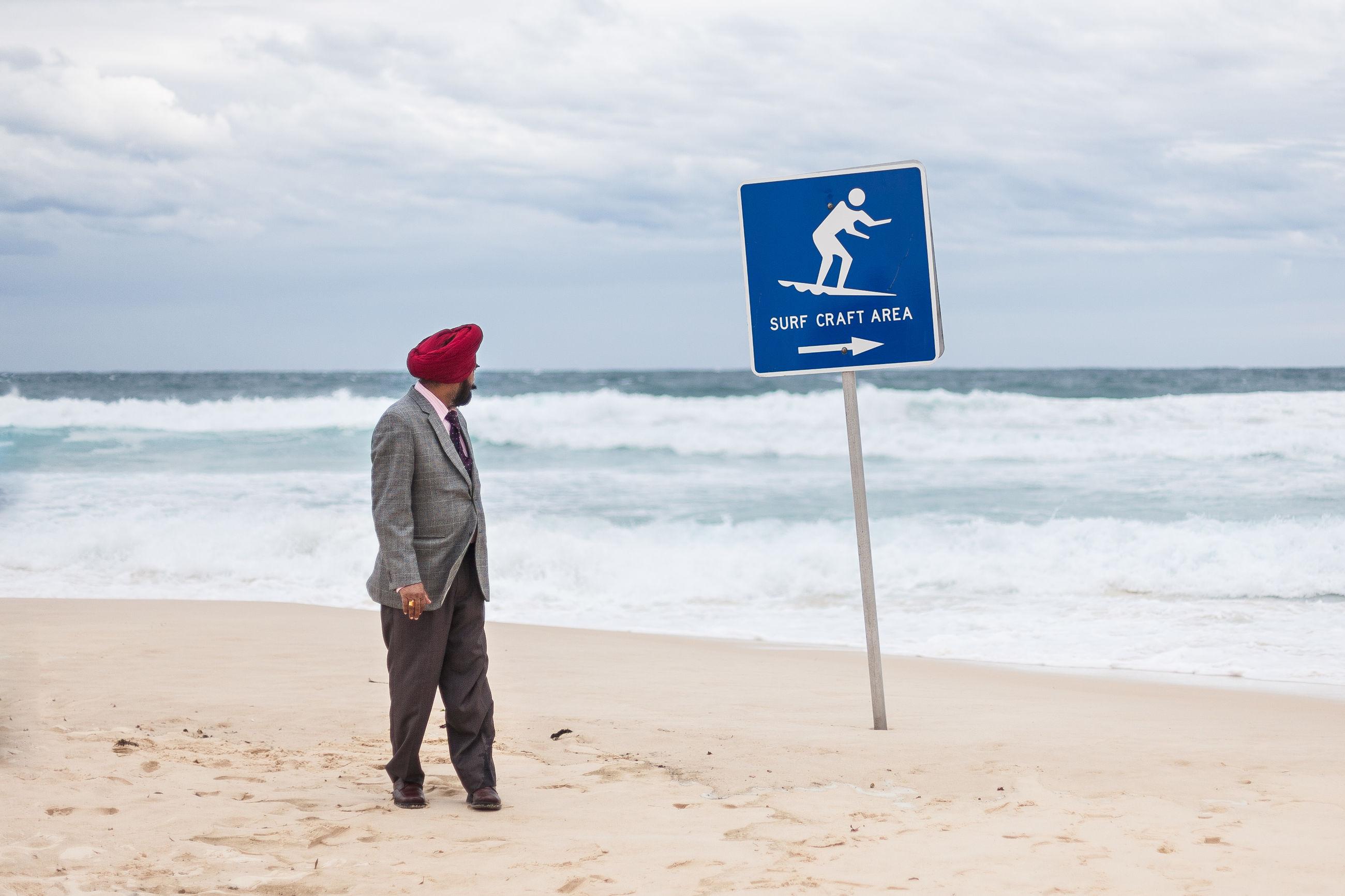 FULL LENGTH OF A MAN ON BEACH