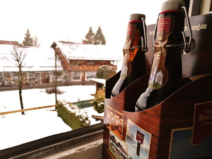 Beer on a winter day. Beer Winter Closeup Craftbeer Outdoors Snow Germany Bavaria