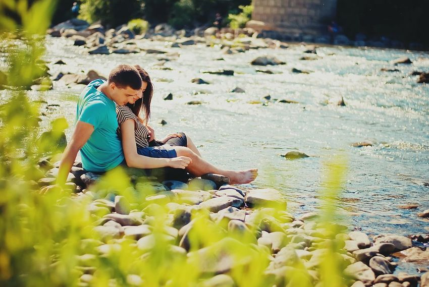 Love Love Is In The Air Love Story Couple Couple In Love Couple Photography Romantic Relaxing Nature On The Beach River Stone