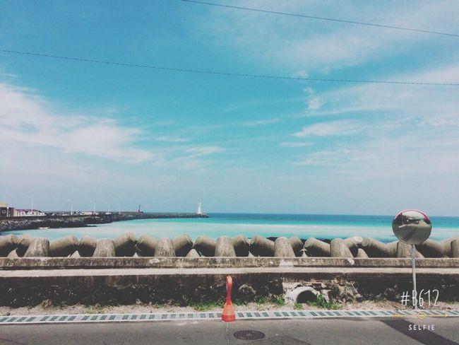 Outdoors JEJU ISLAND  Roadtrip Oh Yehhh Sky Sea Blue Vacations Summer ☀