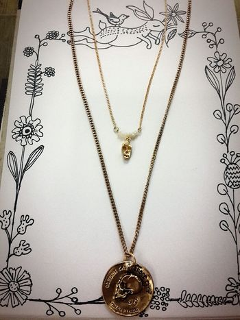 해골 Skeleton 목걸이 Necklace Handmade Jewellery Newdesign Twig Love 사랑해요  璦薇兒Doris