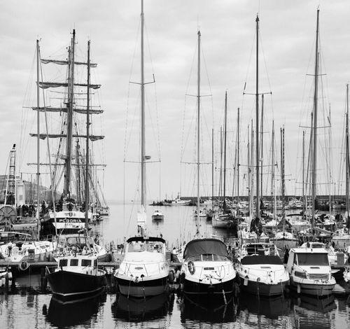 Bnw Bnw Sanremo Italy Porto Vecchio Old Harbour Nikond5300 Photography Boats