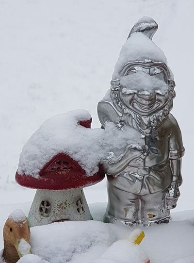 Winter Snow Cold Temperature No People Frosty Cold Weather Outside Living Outside Snowfall Frosty Pattern Ice Frost Wintertime Together Together Forever Love Background Winter_collection Snow Day Cold Winter Holiday Garden Photography Garden Equipment Garden Garden Gnomes