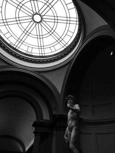 Michelangelo david statue at gallery of the academy of florence