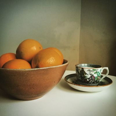 Healthy Eating Food Bowl Table Food And Drink Close-up Freshness Day Indoors  No People Oranges Tea China TeaCup Softlight  Leonard Cohen Homage