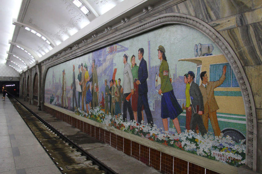 Pyongyang Trainstation Pyongyang Metro North Korea Propaganda Communism Socialism Dictator Politics And Government Juche Kim Jong Il Kim Il Sung Kim Jong Un Pyongyang Architecture North Korea Photos DMZ, North Korea, South Korea Pyongyang Pyongyang Streets No People Architecture Metro Subway Subway Architecture Subway Station Subway Art Metro Station
