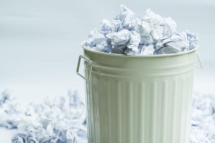 crumpled paper in a trash Creativity Crumpled Trash Creativity Has No Limits Crumpled Paper Crumpled Paper Ball Empty Trash Can Full Trash Cans Gabage Ideas No Idea Trash Can