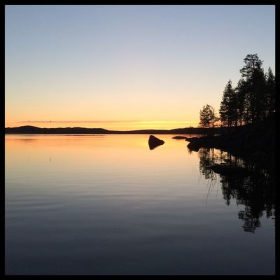 Goodnight! The sun just set before it rises again. Soon midsummer. Betarsjön Ångermanland Sweden Visitsweden Swedishmoments