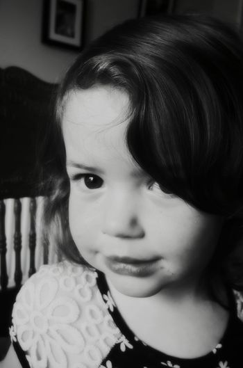 Faye Doris Daughter Toddler  Monochrome Blackandwhite Portrait Photography